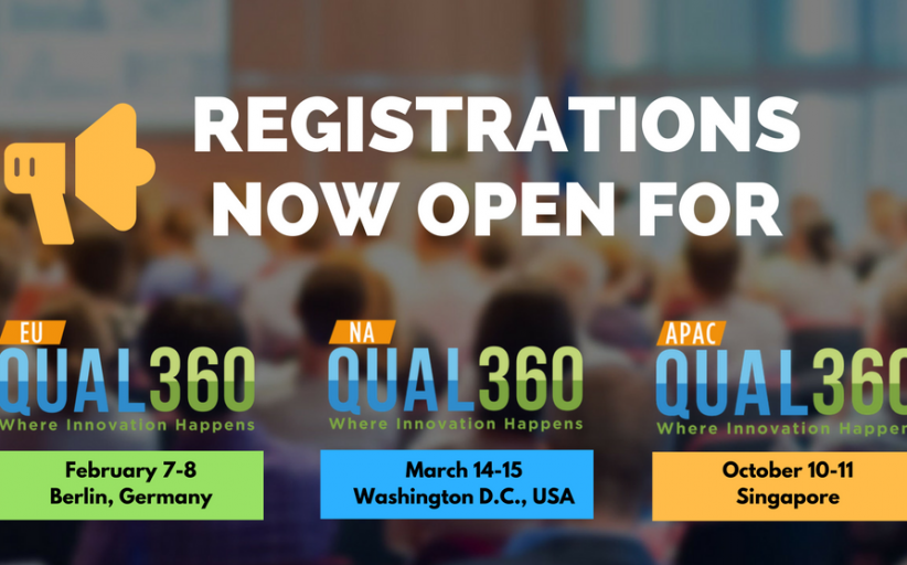 QUAL360 Conference Series 2018 - Registrations are Open!
