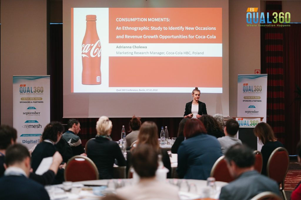 Adrianna of Coco Cola at QUAL360 Europe