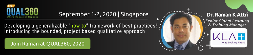 Dr. Raman K Attri at QUAL360 APAC
